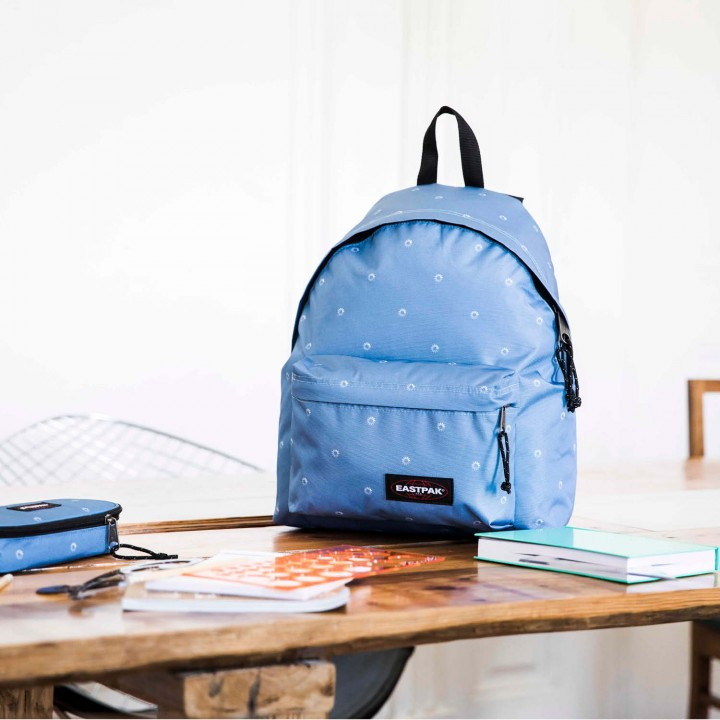 padded pak'r 76t blue wait eastpak bagagerie sac a dos