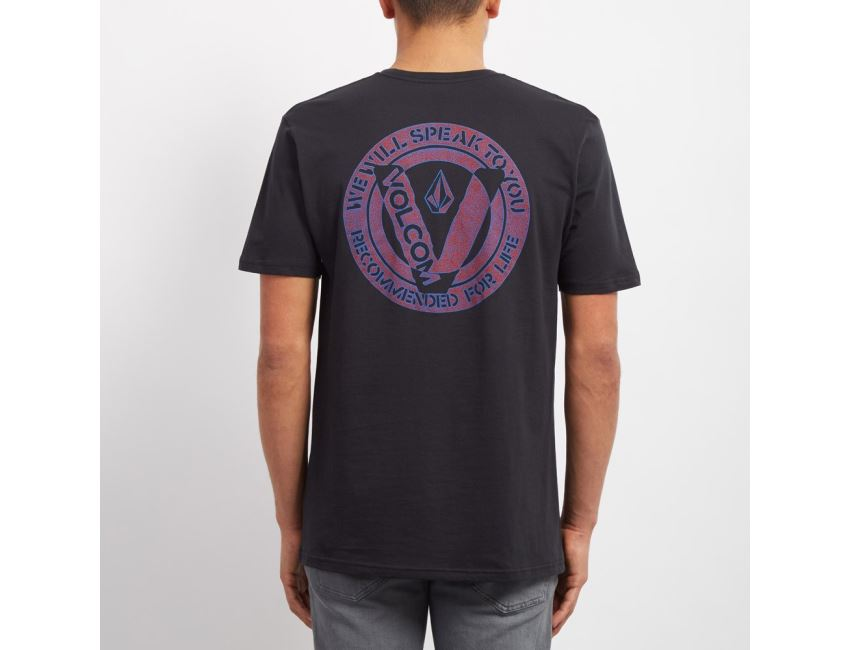Shore Volcom Ss Side Bsc T Classiques Men Shirts Blk Out Cut w1HZIqvp